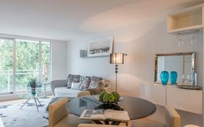 Картинка стол, комната, диван, интерьер