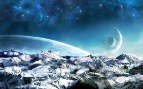 Картинка space, landscape, planets