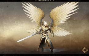 Картинка крылья, меч, архангел, Heroes of Might & Magic 6, Герои Меча и Магии 6