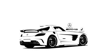 Картинка car, mercedes, auto, sls, amg