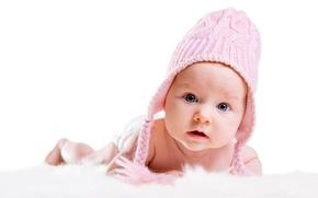 Обои детство, настроение, ребенок, happy, mood, child, baby, childhood, little girl, счастливые, большие красивые голубые глаза, ...