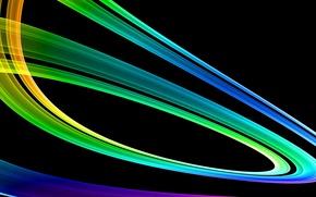 Обои радуга, вектор, градиент, линии