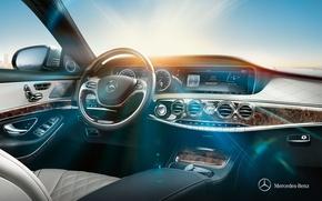 Картинка Mercedes-Benz, Приборная панель, 2013, S-Class