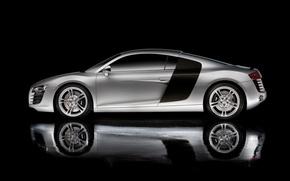 Обои отражение, сбоку, Audi r8