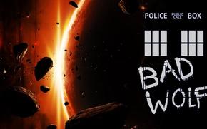 Картинка космос, планета, арт, Doctor Who, астеройды, Доктор Кто, ТАРДИС, TARDIS