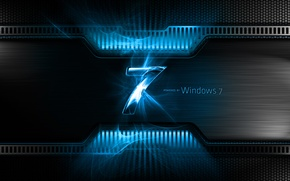 Обои Windows 7, Seven, Blue, Windows Seven, Microsoft Windows