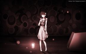 Обои взгляд, девушка, лампа, платье, Аниме, Sankarea, Санкарея