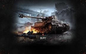 Картинка World of Tanks, Мир Танков, Wargaming Net, Тяжёлый Танк, WoTB, Blitz, World of Tanks: Blitz, …