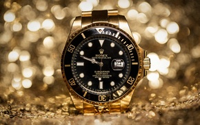 Картинка часы, rolex, Golden Hour