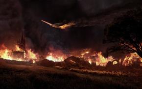 Обои пожар, огонь, пламя