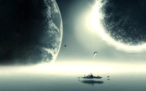 Картинка космос, планета, universe, art, stars, planet