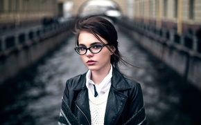 Картинка портрет, очки, Maxim Guselnikov, Brina, Октябрина Максимова