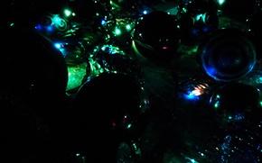 Картинка украшения, праздник, игрушки, новый год, лампочки