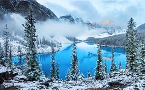 Обои облака, снег, горы, озеро, photographer, Алексей Сулоев