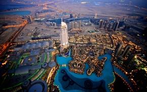 Картинка вода, дома, небоскребы, бассейн, башни, Dubai, дубай, оаэ