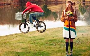 Картинка велосипедист, фотосессия, Lindsey Wixson, CR Fashion Book