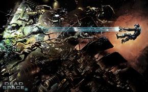 Картинка игра, в воздухе, Dead Space 2, разрыв