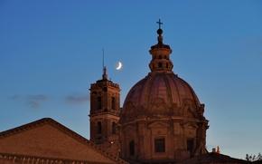 Картинка небо, Рим, Италия, купол, Форум