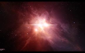 Картинка звезды, свет, туманность, созвездие, vessa nebula