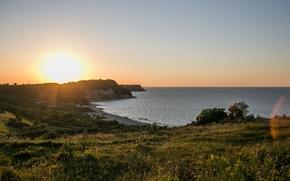 Картинка море, пейзаж, закат, балтика