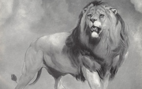 Картинка кошка, хищник, лев, грива, Уильям Хаггинс
