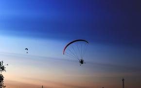 Картинка небо, закат, транспорт, реальное фото, полет фантазии