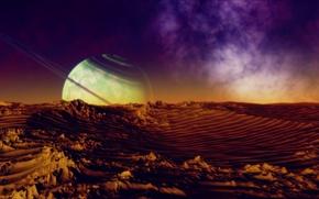 Картинка космос, поверхность, планета, пояс