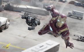 Обои Tony Stark, Don Cheadle, Iron-Man, Captain America:Civil War, Rober Downe Jr, воитель