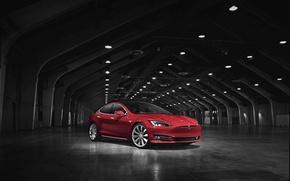 Обои тесла, Tesla, электрокар, Model S