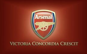 Картинка надпись, логотип, эмблема, арсенал, Arsenal, лозунг, Football Club, канониры, The Gunners, футбольный клуб, Победа происходит …
