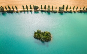 Картинка река, Франция, остров, Бургундия, Йонна