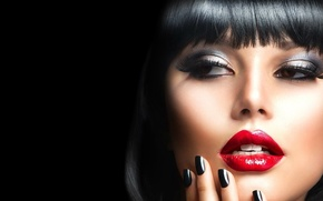 Картинка взгляд, девушка, модель, макияж, Анна Субботина
