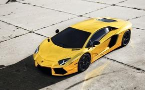 Картинка Авто, Lamborghini, Тюнинг, Машины, Золото, Aventador, Gold, Спорткар