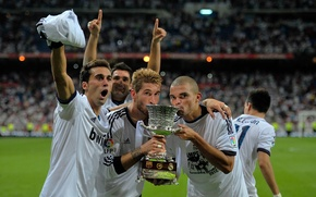 Картинка 2012, football, Real Madrid, Pepe, Super Copa, A.Arbeloa, S.Ramos, Adan
