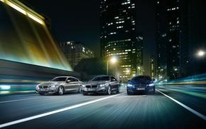 Картинка дорога, город, скорость, небоскреб, BMW, BMW M4, BMW 4-Series
