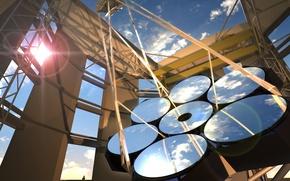 Картинка небо, зеркала, Гигантский Магелланов телескоп