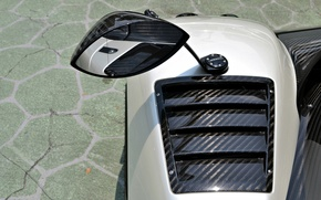 Картинка зеркало, суперкар, карбон, Pagani, supercar, carbon, zonda, cinque, mirror, зонда, пагани