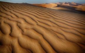 Обои пустыня, дюны, барханы, песок, холмы