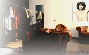 Картинка музыка, кресло, певица, Mylene Farmer, Милен Фармер, француженка