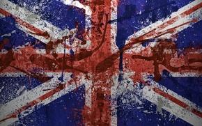 Обои краски, флаг, Великобритания, flag, Great Britain