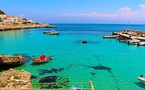 Картинка море, Италия, панорама, sea, Italy, panorama, Italia, Sicily, Сицилия, Sicilia