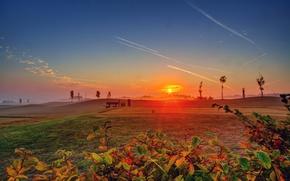 Картинка небо, солнце, закат, природа, фото, рассвет, Германия, Ediger-Eller