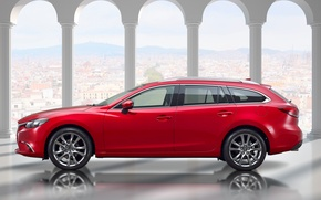 Картинка Mazda 6, мазда, универсал, Wagon, 2015