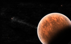 Картинка red, black, planet