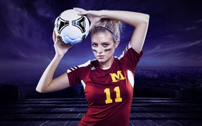 Картинка девушка, спорт, мячь