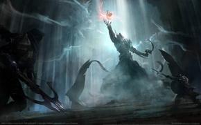 Картинка игра, противостояние, фэнтези, битва, fantasy, game wallpapers, Диабло 3, Diablo 3: Reaper of Souls Fan …