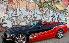 Обои графити, кастом, стена