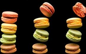 Картинка еда, печенье, разноцветные, выпечка, macaron