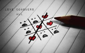 Картинка любовь, полосы, романтика, сердца, карандаш, love, stripes, hearts, romance, pencil, crosswords, кроссворды
