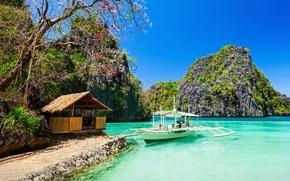 Обои тропический рай, море, побережье, пляж
